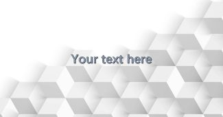 Cube White PowerPoint Background