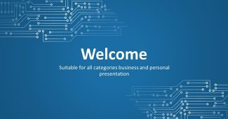 Introduction to Blue Technology powerpoint template