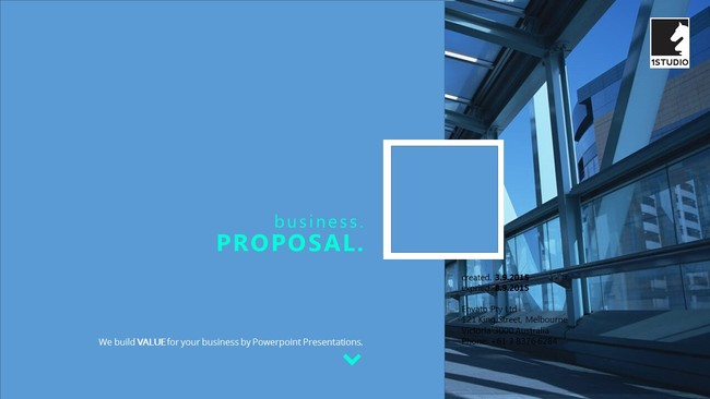 Business report or proposal Powerpoint template