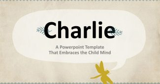 With children's thoughts Powerpoint template