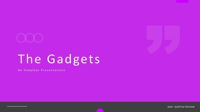 The Gadgets Powerpoint Template