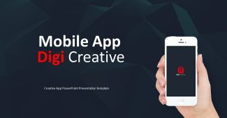 Creative Mobile APP Powerpoint Template