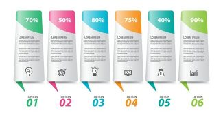 Steps options chart Powerpoint template
