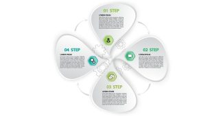 Polygon infographic Powerpoint Template