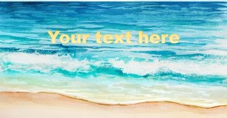 Seascapes Watercolor PowerPoint Background