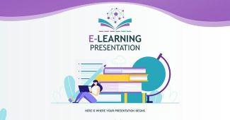 Stylish E-Learning Powerpoint Template