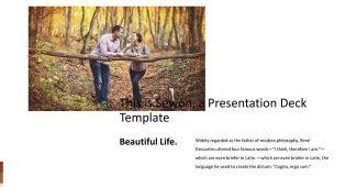 Exquisite two color Powerpoint Template