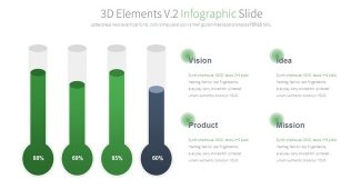 Green 3D Charts Powerpoint Template