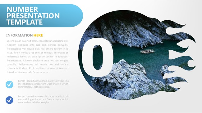 Number Abstract Powerpoint Template