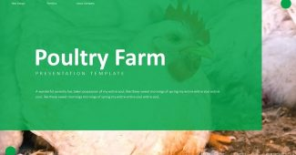 Green Poultry Farm Powerpoint Template