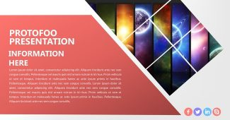 Simple Polygon Powerpoint Template
