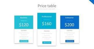 Price Table Set Powerpoint Template