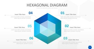 Hexagonal Chart Powerpoint Template