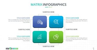 Creative Matrix Charts Powerpoint Template