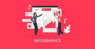 Infographic and Shapes and business logo Powerpoint Template