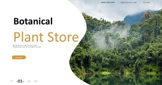 Tropical Plant Powerpoint Template