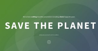 Save Planet Infographic Charts Powerpoint Template