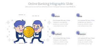 Online Banking Infographic Presentation Template