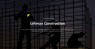 Minimalist Construction Presentation Template