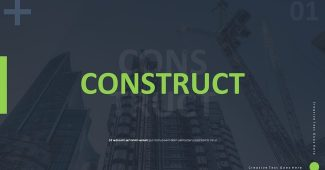 Green Construction Building Presentation Template