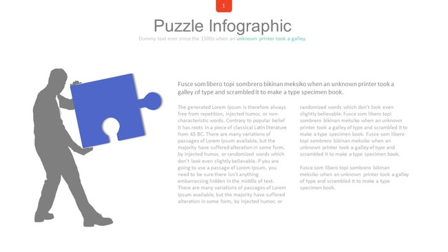 Puzzle Infographic Presentation Template