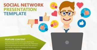 Colored Social Network Presentation Template