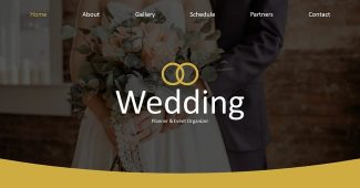 Gold Wedding Planner Presentation Template