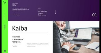 Pruple and Green Business Presentation Template
