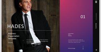 Purple and Black Style Business Presentation Template