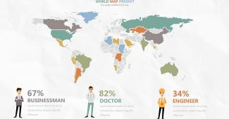 World Maps and Charts Presentation Template