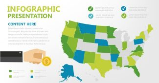 Green and blue infographic Presentation Template