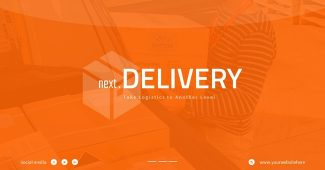 Ornage Express Delivery Presentation Template