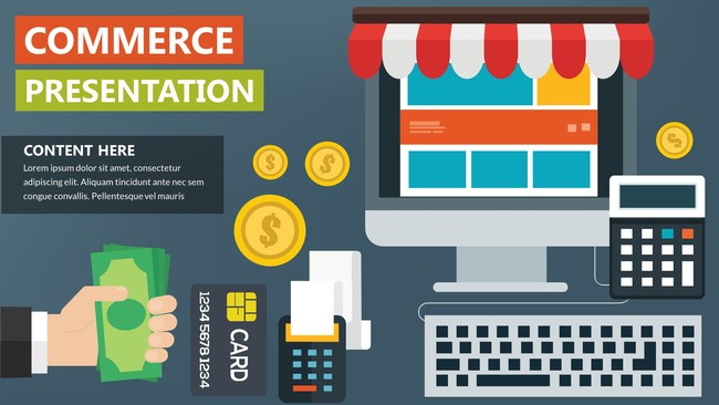 Shopping Infographic Presentation Template