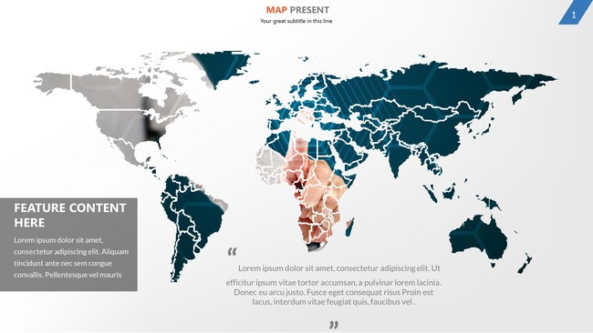 Map and Charts Presentation Template