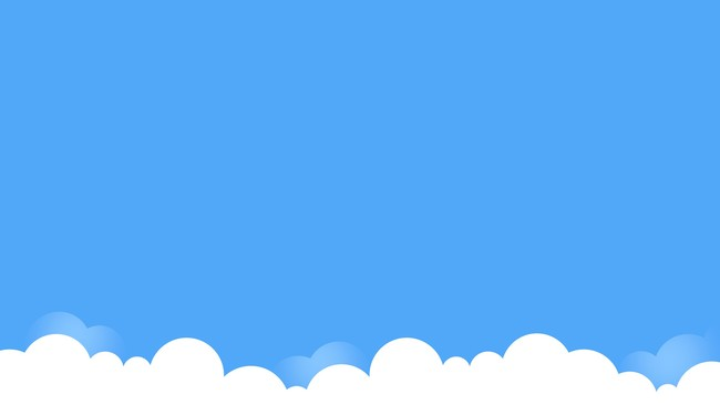 Cloud and Blue Presentation Background