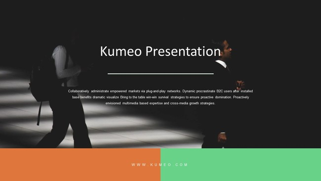Green and Brown Business Presentation Template