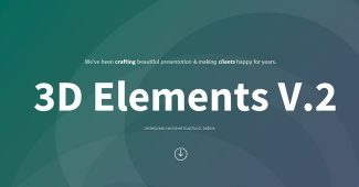 Green 3D Infographic Presentation Template