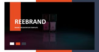 Gray with Red Brand Presentation Template