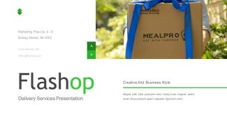 Green Delivery Services Presentation Template