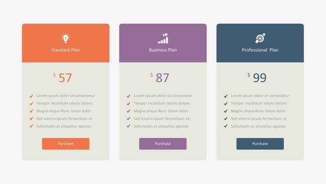 Pricing Tables Presentation Template
