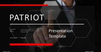 Classic Red with Black Business Presentation Template