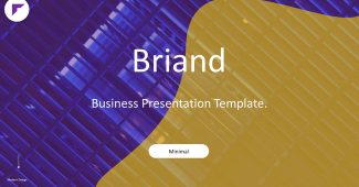 Yellow with Purple Business Presentation Template
