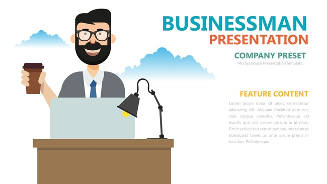 Cute Business Comapny Infographic Presentation Template